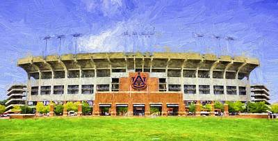 Ready For Gameday At Jordan Hare Print by JC Findley