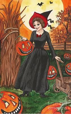 Ready For Halloween Print by Margaryta Yermolayeva