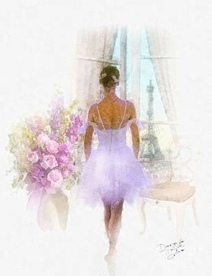 Dance Ballet Roses Painting - Ready by Mo T