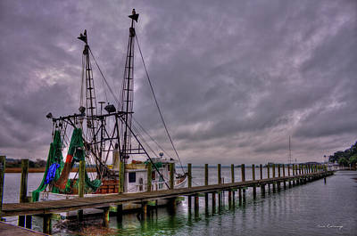 Ready To Go Savannah Shrimp Boat Art Print by Reid Callaway