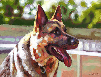 Pooch Painting - Ready To Romp by Douglas Simonson