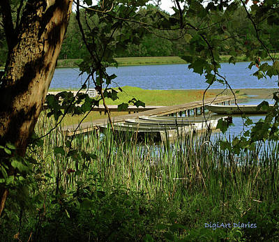 Oars Digital Art - Ready To Row With No One To Go  by DigiArt Diaries by Vicky B Fuller