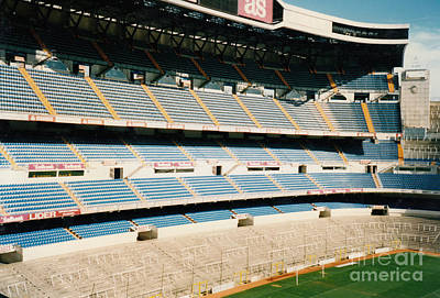 Cristiano Ronaldo Photograph - Real Madrid - Santiago Bernabeu Stadium - North End 1 - Jan 1998 by Legendary Football Grounds