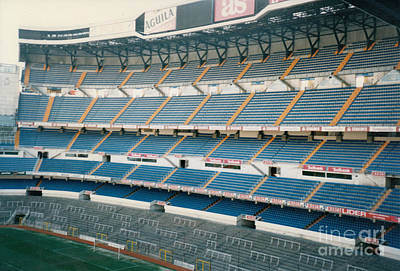 Cristiano Ronaldo Photograph - Real Madrid - Santiago Bernabeu Stadium - South End Stand 1 - Jan 1998 by Legendary Football Grounds
