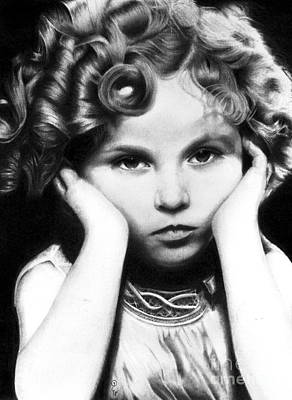 Realistic Pencil Drawing Of Shirley Temple Original by Debbie Engel