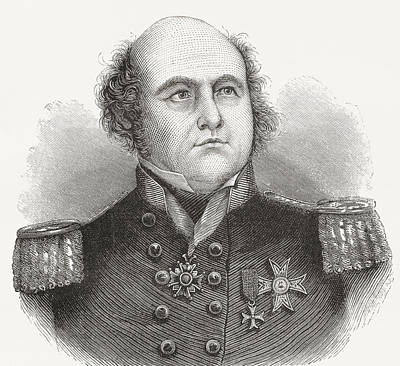 Franklin Drawing - Rear-admiral Sir John Franklin, 1786 by Vintage Design Pics