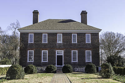 Rear View George Wythe House Print by Teresa Mucha