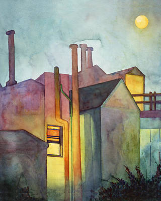 Wet On Wet Painting - Window Light And San Francisco Night Fog  by Sandra McGinley