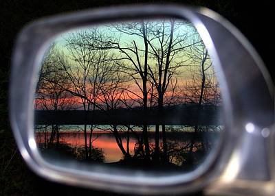 Rearview Mirror Print by Mitch Cat