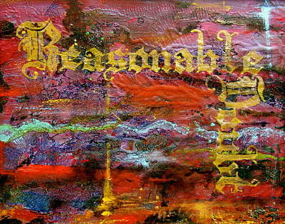 Doubt Painting - Reasonable Doubt by Laura Pierre-Louis