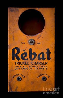 Amp Photograph - Rebat Vintage Automotive Battery Trickle Charger by Edward Fielding