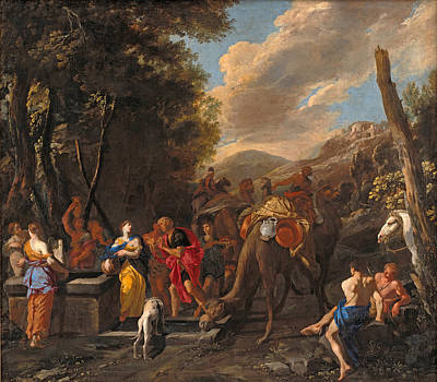 Painting - Rebecca And Eliezer At The Well by Domenico Gargiulo