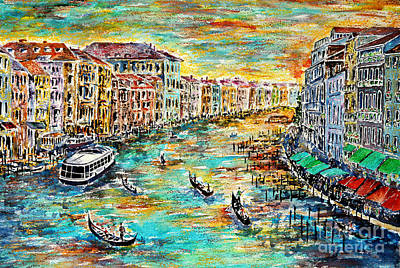 Grande Painting - Recalling Venice by Alfred Motzer