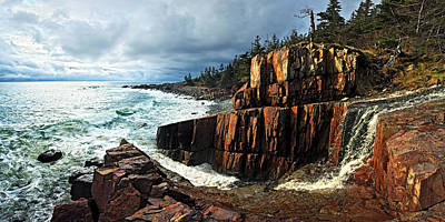 Coastal Maine Photograph - Receding Storm by Bill Caldwell -        ABeautifulSky Photography