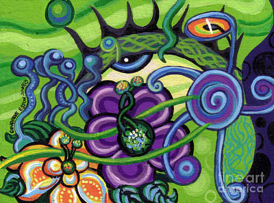 Plankton Painting - Reciprocal Liason Of The Sea II by Genevieve Esson