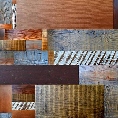Aged Wood Digital Art - Reclaimed Wood Collage 3.0 by Michelle Calkins