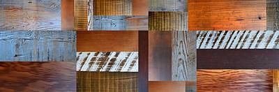 Aged Wood Digital Art - Reclaimed Wood Collage 5.0 by Michelle Calkins