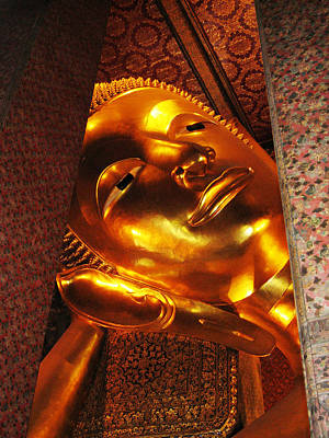 Lively Photograph - Reclining Buddha by Oliver Johnston