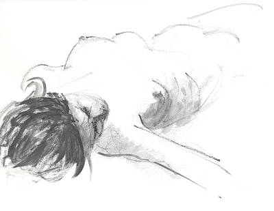 Reclining Drawing - Reclining Figure by Chris N Rohrbach