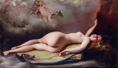 Luis Ricardo Falero Painting - Reclining Nude by Luis Ricardo Falero