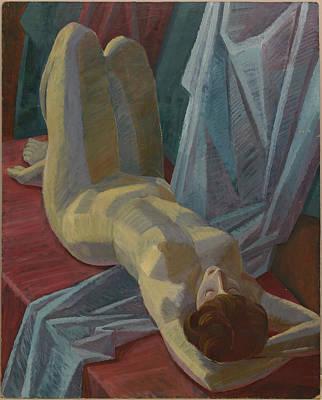 Reclining Nude Woman Original by Igor Sakurov