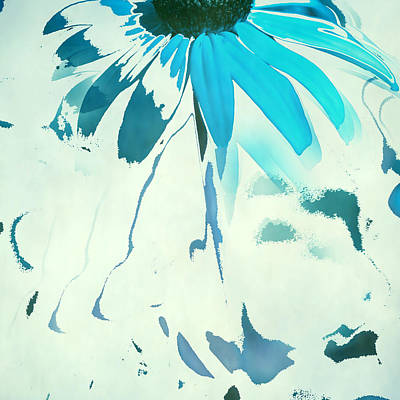 Abstracted Coneflowers Digital Art - Reconstructed Flower No4 by Bonnie Bruno