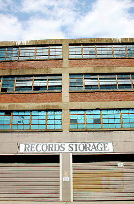 Records Storage- Nashville Photography By Linda Woods Print by Linda Woods