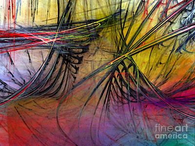 Contemporary Abstract Digital Art - Recreation by Karin Kuhlmann