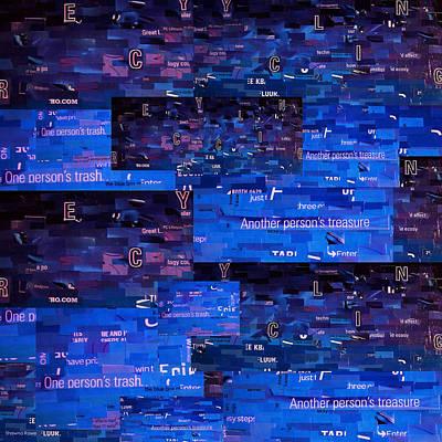 Mosaic Mixed Media - Recycling by Shawna Rowe