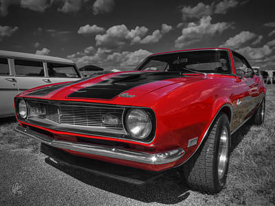Man Cave Photograph - Red '68 Camaro 001 by Lance Vaughn