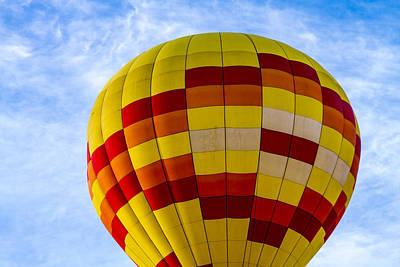 Red And Yellow Hot Air Balloon Print by Teri Virbickis
