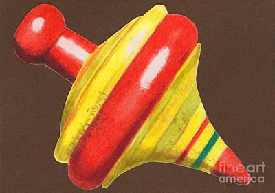 Red And Yellow Top Print by Glenda Zuckerman