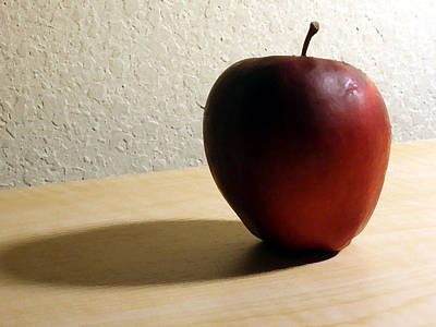 Red Apple Print by Eric Forster