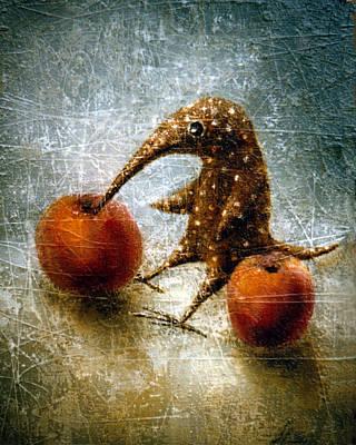 Birdman Painting - Red Apples by Lolita Bronzini