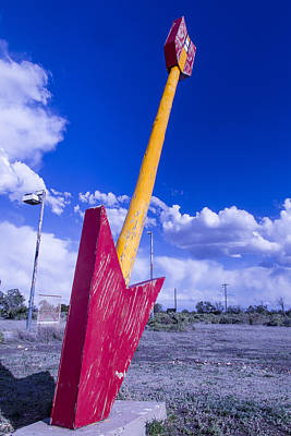 Weatherworn Photograph - Red Arrow 2 by Garry Gay