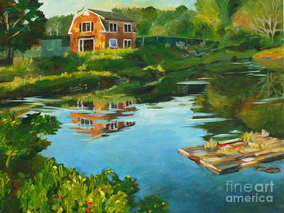 Red Barn In Kennebunkport Me Print by Claire Gagnon