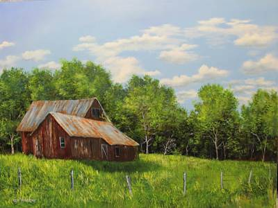 Painting - Red Barn by Ken Ahlering