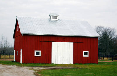 Designer Photograph - Red Barn- Photography By Linda Woods by Linda Woods