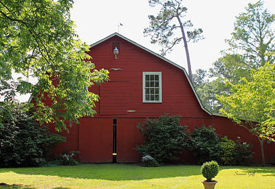 Red Barn Print by Suzanne Gaff