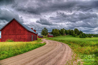 Salo Photograph - Red Barn by Veikko Suikkanen