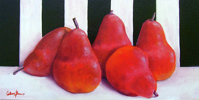 Oil Painting - Red Bartletts by Colleen Brown