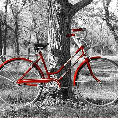Bicycle Photograph - Red Bicycle II by James Granberry