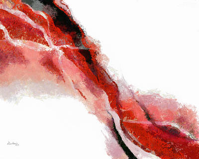 Red Black Abstract Print by Russ Harris