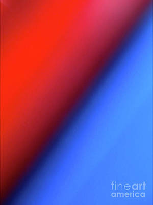 Minimalism Photograph - Red Blue by CML Brown