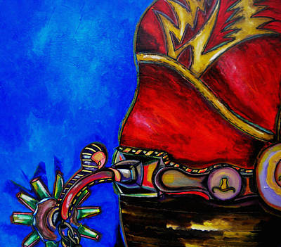 Cowboy Boots Painting - Red Boot by Patti Schermerhorn