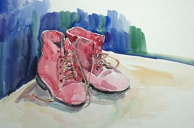 Red Boots Print by Becky Kim