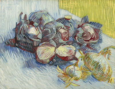 Cabbage Painting - Red Cabbages And Onions by Vincent van Gogh