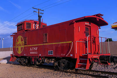 Old Caboose Photograph - Red Caboose  by Garry Gay