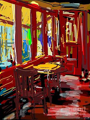 Loose Style Digital Art - Red Cafe by Sandra Haney