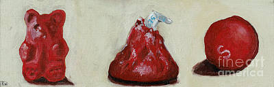 Candy Painting - Red Candy by Robin Wiesneth
